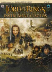 Warner Bros. Publications LORD OF THE RINGS - INSTRUMENTAL SOLOS + CD housle + piano
