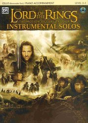 ALFRED PUBLISHING CO.,INC. LORD OF THE RINGS - INSTRUMENTAL SOLOS + CD violoncello&piano