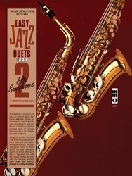 Music Minus One EASY JAZZ DUETS for 2 Alto Saxophones + CD