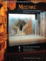 Music Minus One Mozart Opera Arias for Bass Baritone&Orchestra II + CD