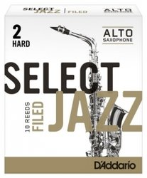 D'Addario Select Jazz Filed plátky pro Alt saxofon tvrdost 2H - kus