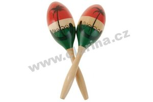 Latin Percussion Maracas, Wood Maracas - Medium/Painted